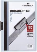 DURABLE Klemmmappe Duraclip A4 blau 2209 06 60 Blatt
