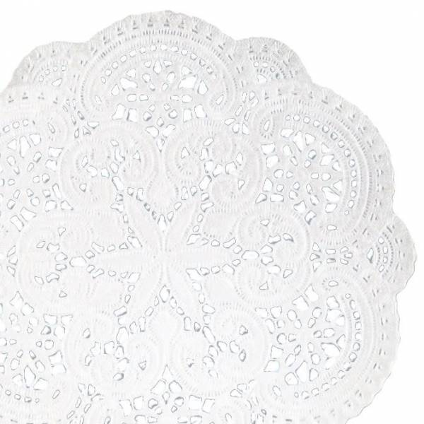 Tassenuntersetzer Ø10cm, weiß, 40 Stück