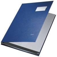 5701 Unterschriftsmappe 10 Fächer, PP kaschiert, blau