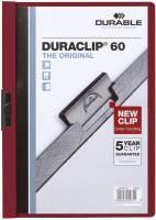 DURABLE Klemmmappe Duraclip A4 aubergine 2209 31 60 Blatt
