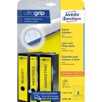 L4751 20 Ordner Etiketten schmal lang, (A4 20 Blatt) 100 Stück, gelb
