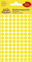 3013 Markierungspunkte Ø 8 mm, 4 Blatt 416 Etiketten, gelb