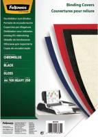 FELLOWES Einbanddeckel Chromolux A4 schwarz FW5378504 100ST 250g
